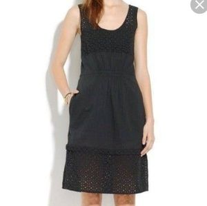 Madewell Eyelet Love Song dress in black